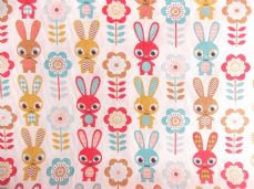 Rabbit  Print Polycotton Fabric